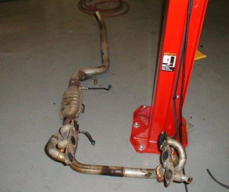 Complete 3 inch Exhaust System for 3.8, including Headers